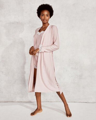 Cool Stretch Striped Lace Robe