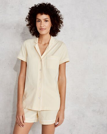 Organic Cotton Jersey Short Sleeve Pajama Shirt