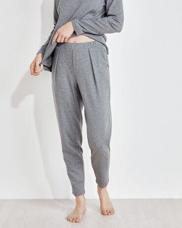 Organic Cotton Interlock Slim Leg Pants