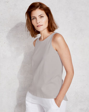 Organic Cotton Interlock Back Keyhole Tank