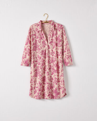 Organic Cotton Jersey Holiday Toile Sleep Shirt