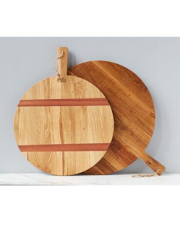 Etú Home Round Oak Charcuterie Board, Medium