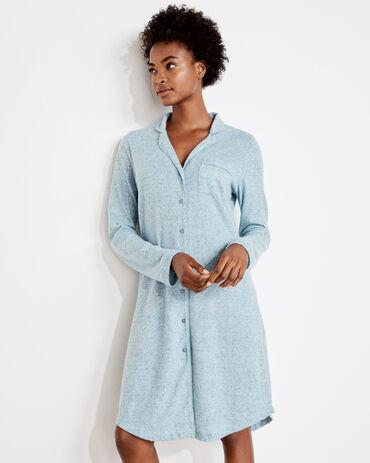 Brushed Featherweight Knit Sleep Shirt