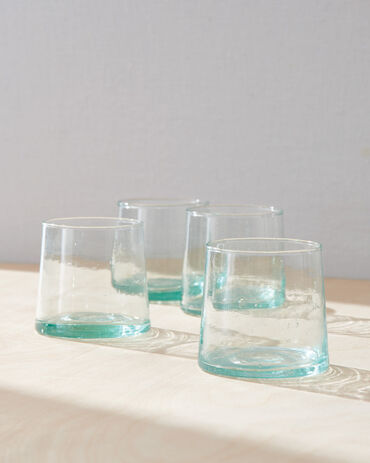Hawkins New York Medium Recycled Glassware, Set of 4