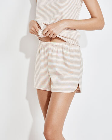 Organic Cotton Jersey Striped Shorts