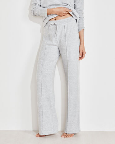 Marled Knit Straight Leg Pants