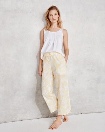 True Cotton Floral Embroidered Dot Pant