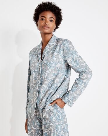 Organic True Cotton Paisley Pajama Shirt