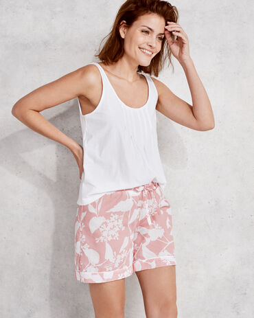True Cotton Floral Short