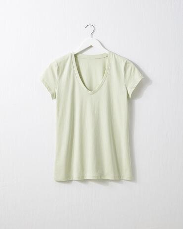 Organic Cotton Jersey V Neck Tee