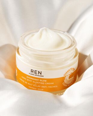 REN Clean Skincare Radiance Overnight Glow Dark Spot Sleeping Cream