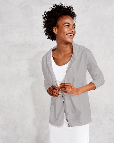 Organic Cotton Interlock Zip Front Hoodie