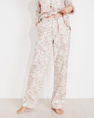 Organic True Cotton Outline Floral Drawstring Pants