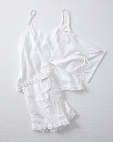 True Cotton Embroidered Dot Sleep Set