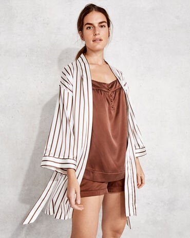 Striped Silk Robe