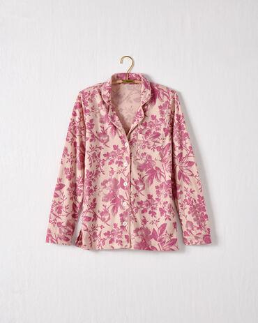 Organic Cotton Jersey Holiday Toile Pajama Shirt