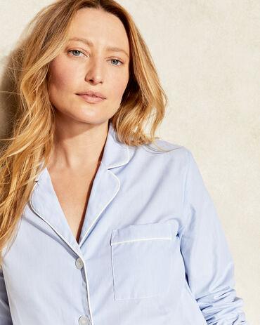 True Cotton Striped Pajama Shirt
