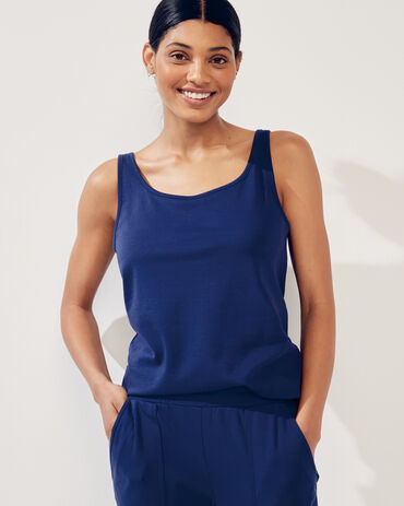 Organic Cotton Interlock Scoopneck Tank