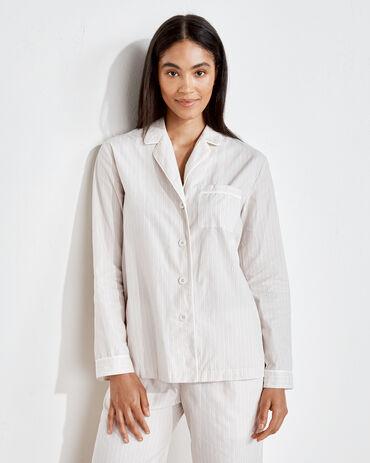 Organic True Cotton Tonal Striped Pajama Shirt