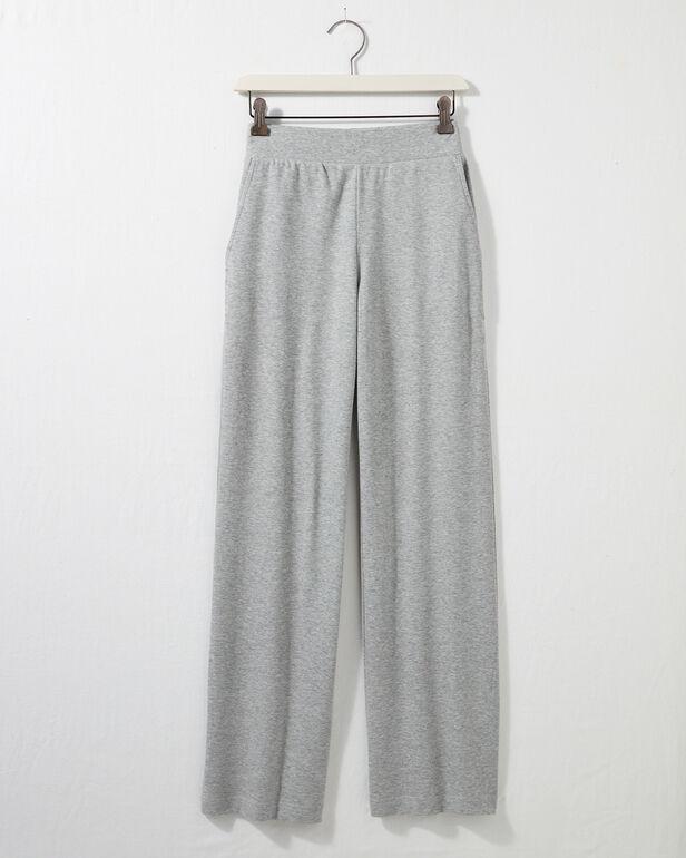 Organic Cotton Interlock Wide Leg Pant