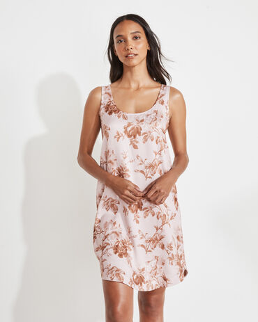 Natural Luxe Watercolor Floral Sleep Dress