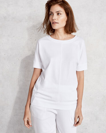 Organic Cotton Interlock Short Sleeve Dolman Top