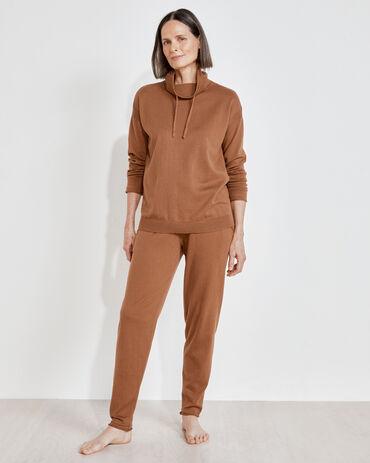 Cotton Cashmere Cowl Neck Sweater