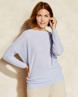 Pure Cashmere Mesh Pullover
