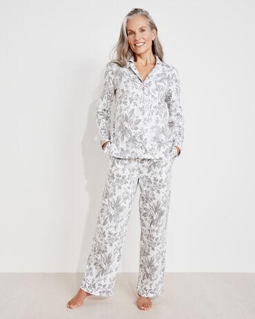 Organic Cotton Jersey Holiday Toile Drawstring Pants