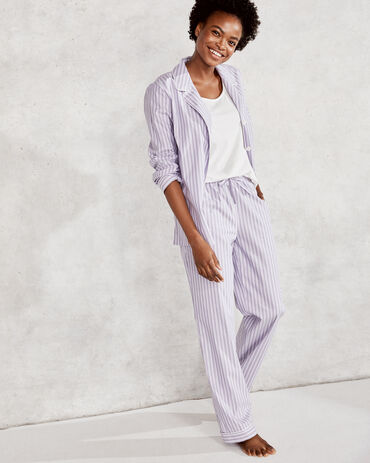 True Cotton Striped Drawstring Pant