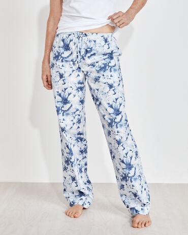Organic True Cotton Blurred Floral Drawstring Pants