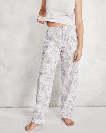 True Cotton Whimsical Garden Drawstring Pant