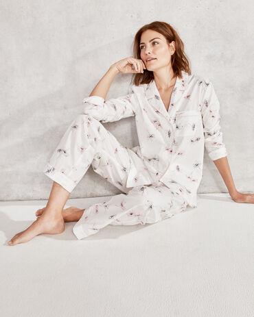 True Cotton Vintage Floral Pajama Shirt