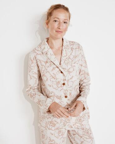Organic True Cotton Outline Floral Pajama Shirt