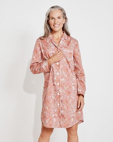 Organic True Cotton Paisley Sleep Shirt
