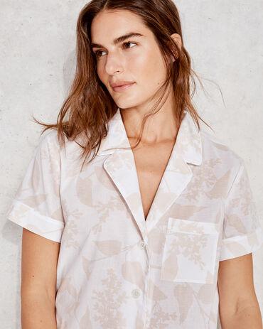 True Cotton Floral Short Sleeve Pajama Shirt