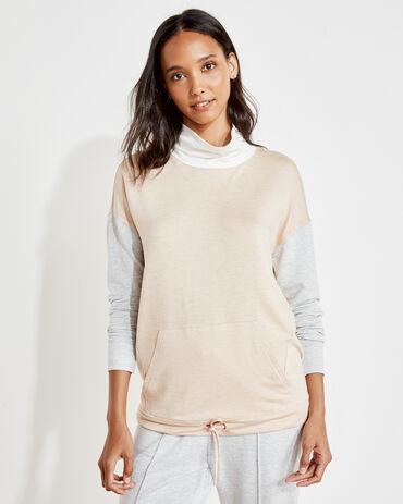 Cloud Fleece Colorblock Funnel Neck Sweatshirt