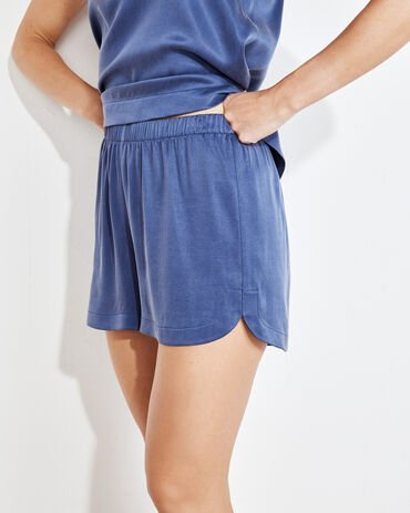 Natural Luxe Curved Hem Shorts