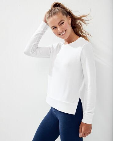 Beyond Yoga Side Slit Long Sleeve Pullover