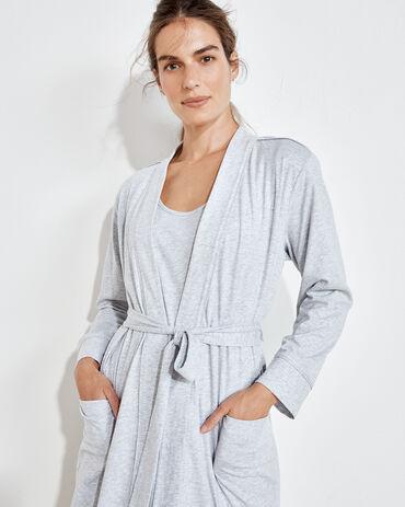 Organic Cotton Jersey Robe