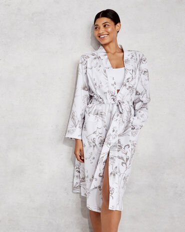Organic Cotton Jersey Tropical Toile Robe