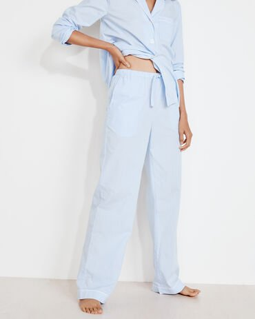 True Cotton Striped Drawstring Pants