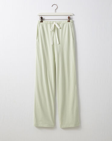 Organic Cotton Jersey Pant with Chiffon Tie