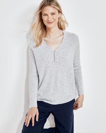 Pure Cashmere Silk Back Sweater
