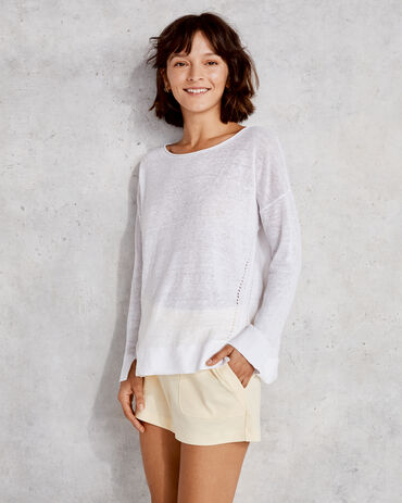 Linen Roll Neck Sweater