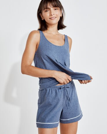 Organic Cotton Jersey Piped Shorts