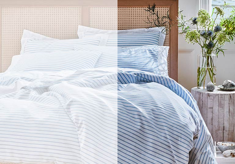 Bedding. A freshly made bed with soft linens of your choice sets the scene for perfect sleep.