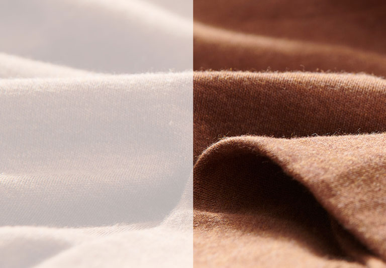 Organic Cotton Interlock. Organic cotton fabric created with an interlock knit technique for an incredibly smooth texture and fluid drape.